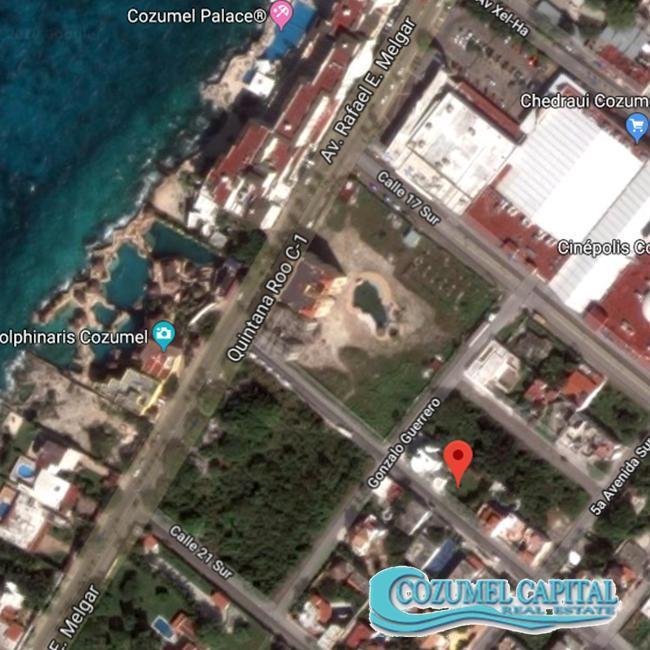 TERRENO COLIBRI - MAP beach view Cozumel