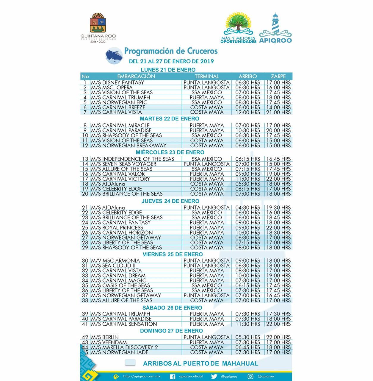 Programa-de-Cruceros-de-Cozumel-del-21-al-27-de-Enero-2019