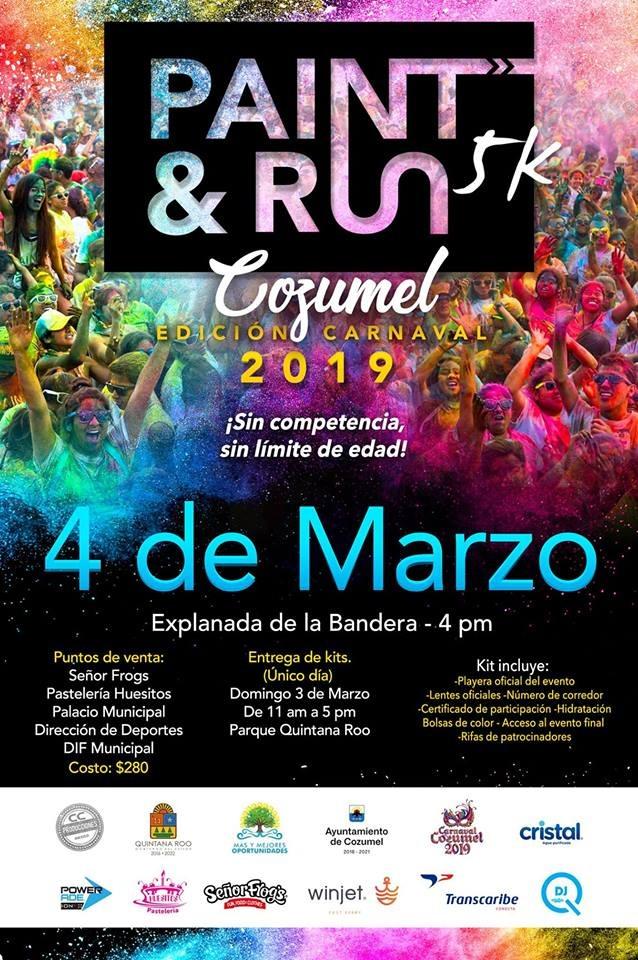 Paint & Run Cozumel 2019