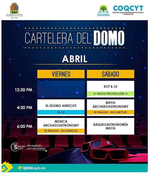 Billboard of The Planetarium of Cozumel – April 2019